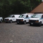 Voce Cleaning, LLC fleet of trucks